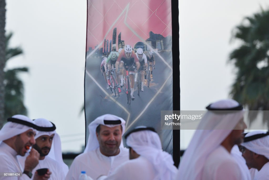 Members of the public during the team presentation and the Opening Ceremony of the Abu Dhabi Tour 2018 at the Viceroy Hotel. On Tuesday, February 20, 2018, in the Viceroy Hotel, Abu Dhabi, United Arab Emirates.