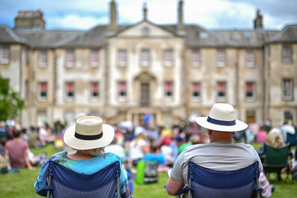 GBR: Scottish National Orchestra Holds Outdoor Concert At Newhailes House