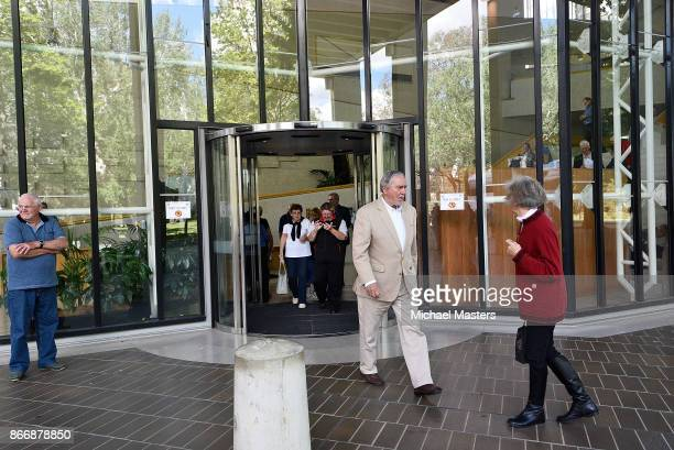 Members of the public exiting the High Court on October 27 2017 in Canberra Australia The High Court of Australia has ruled that five MPs including...