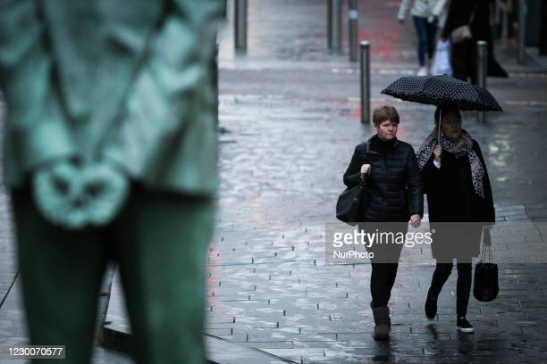 Members of the public in Glasgow city centre on December 11, 2020 in Glasgow, Scotland. Coronavirus restrictions in 11 council areas effecting more...