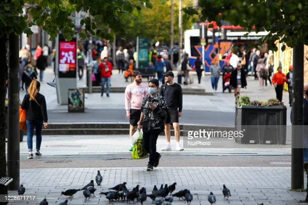 Members of the public in Glasgow city centre on September 23, 2020 in Glasgow, Scotland. In an address to the nation the First Minister Nicola...