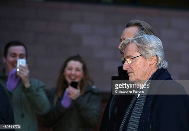 Members of the public photograph Coronation Street Star William Roache as he leaves Preston Crown Court after the first day of his trial of...