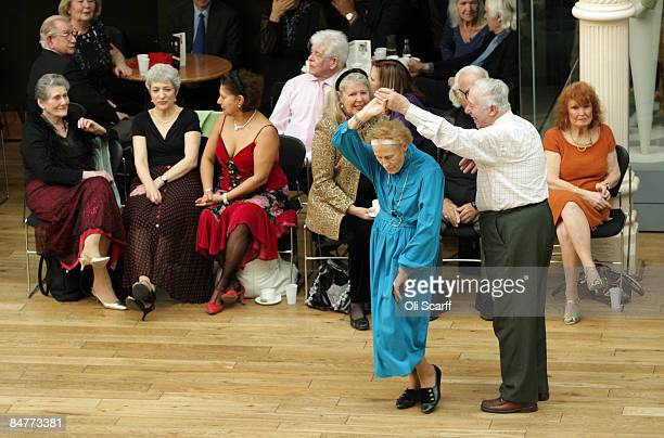 Members of the public take part in a Tea Dance in the Paul Hamlyn Hall at the Royal Opera House on February 13 2009 in London The heavily subscribed...