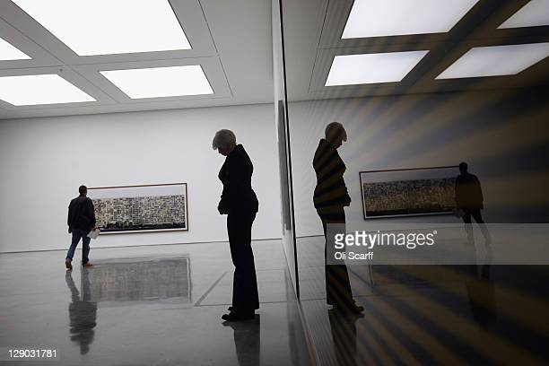 Members of the public view the new White Cube gallery in Bermondsey on October 11 2011 in London England The third White Cube gallery in Bermondsey...