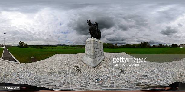 Members of the public visit the Robert the Bruce statue situated at the place where King Robert the Bruce planted his standard prior to the Battle of...