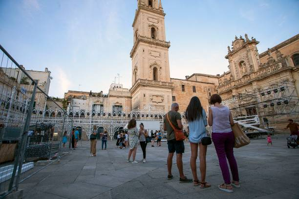 ITA: General Views Of The Dior Cruise Preparations In Lecce