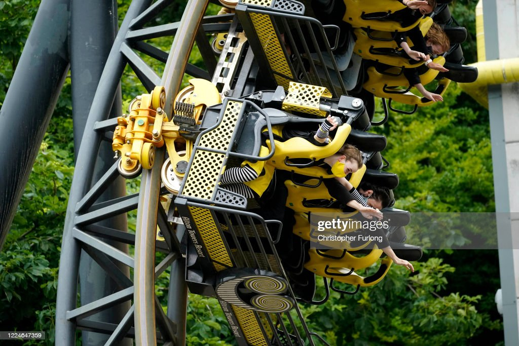 Members Of The Public Wear Masks As They Ride The Smiler News Photo Getty Images