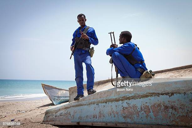 Members of the Puntland Maritime Police Force on patrol for pirates in the village of Elayo Somalia The Puntland Maritime Police Force is a locally...