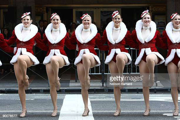 Members of the Radio City Rockettes attend the 2009 Radio City Christmas Spectacular Kick Off at Radio City Music Hall on August 25 2009 in New York...