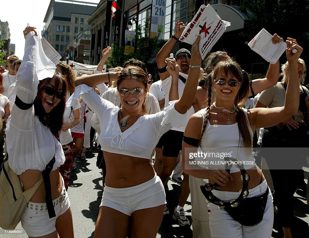Members of the Raelian Cult march in street parade In Montreal, Canada On July 26, 2002- : News Photo