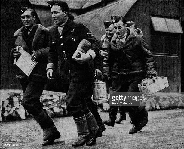 Members of the RAF ready for action during World War II circa 1940 From Coastal Command