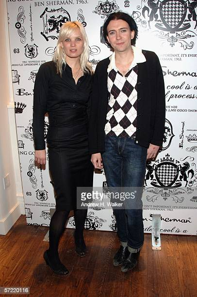 Members of the Raveonettes Sharin Foo and Sune Rose Wagner attend the launch of Ben Sherman's first official US Flagship Store on March 30 2006 in...