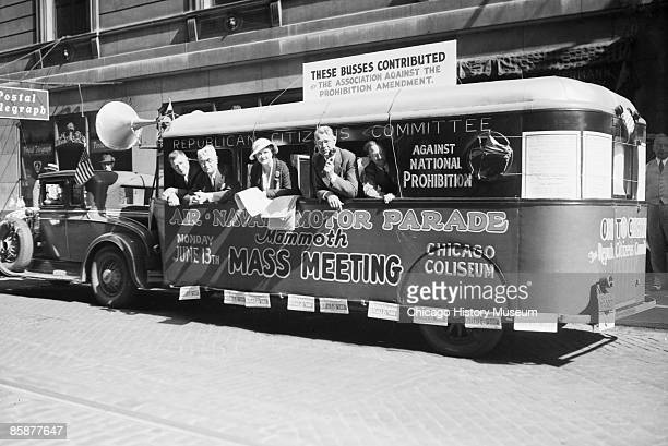 Members of the Republican Citizens Committee campaign for the repeal of the 18th Amendment and the supension of Prohibition law Chicago 1932 From the...