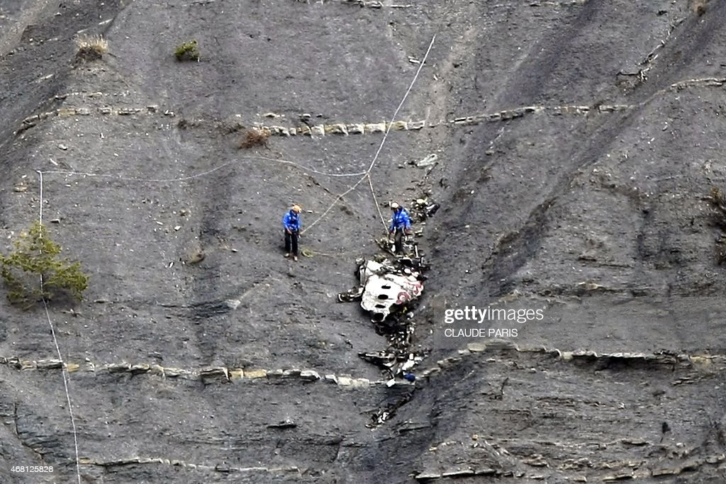 FRANCE-GERMANY-SPAIN-AVIATION-ACCIDENT : News Photo