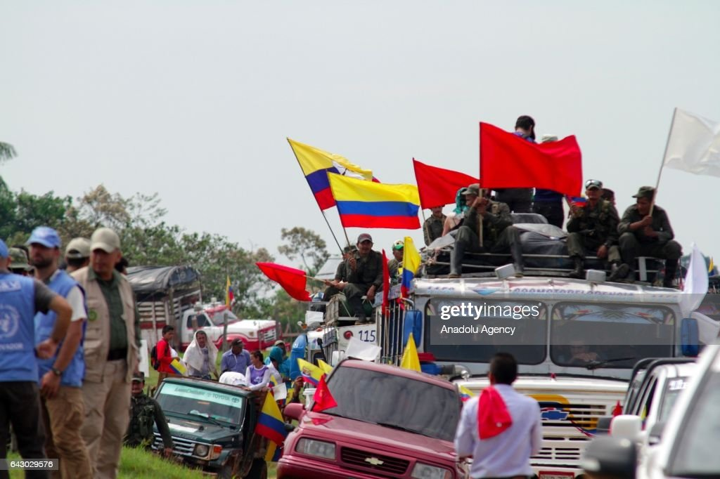 FARC members arrive at gathering camps : News Photo