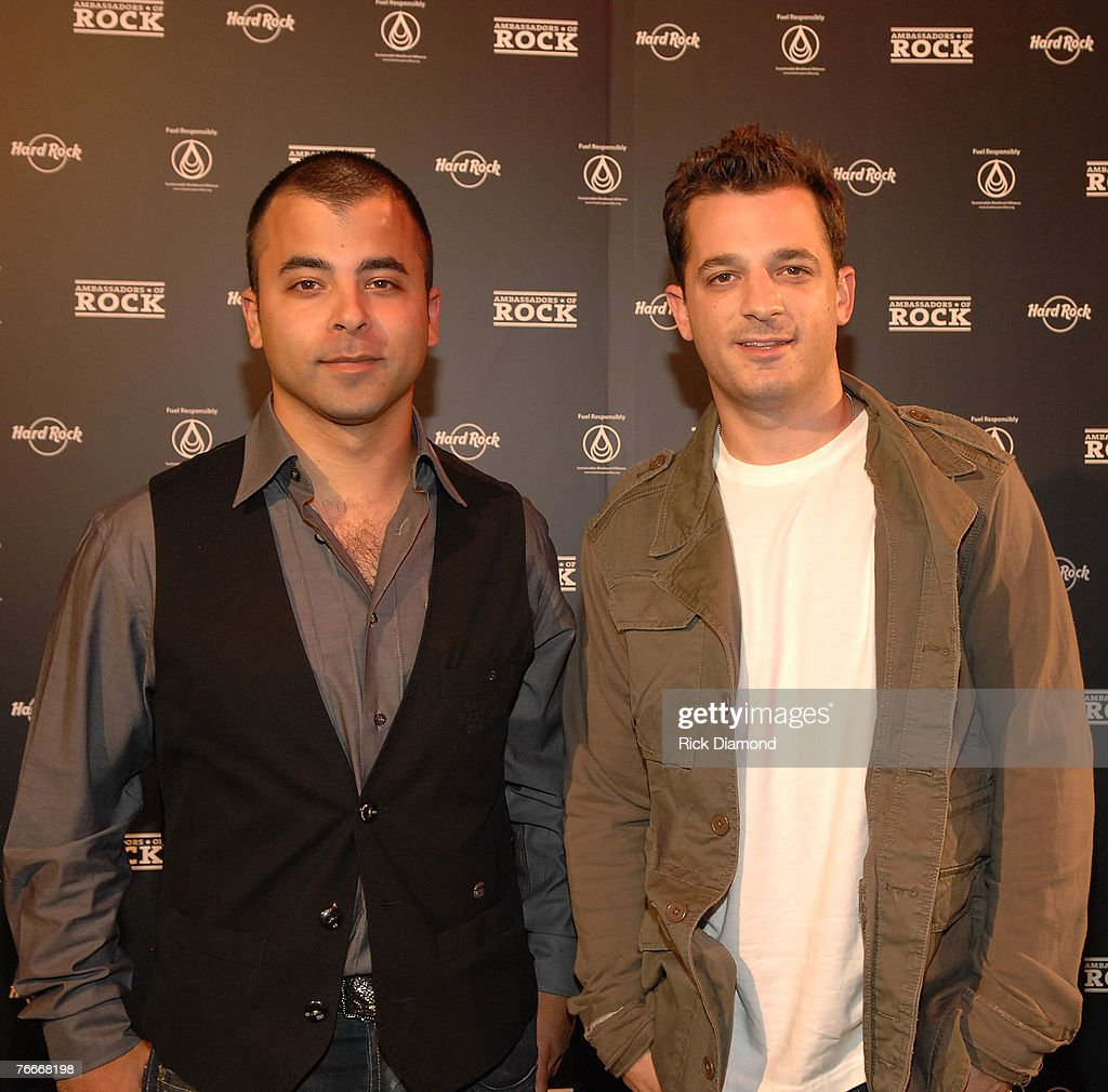 Members of the rock band O.A.R. arrive on The Green Carprt for The Launch of the Sustainable Biodiesel Alliance at the Hard Rock Cafe in New York City on September 10,2007.