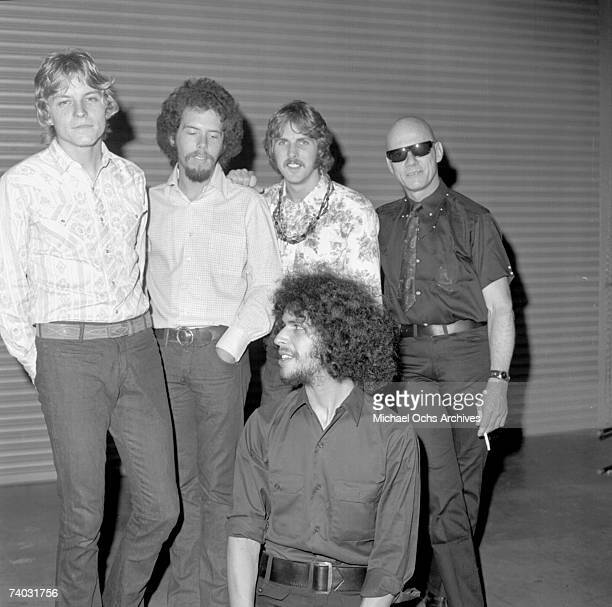 Members of the rock band 'Spirit' pose for a candid portrait on May 29 1968 in Los Angeles California Original members include Jay Ferguson Mark...