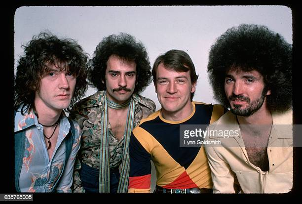 Members of the rock group Grand Funk Railroad are from left Craig Frost Mel Schacher Mark Farner and Don Brewer