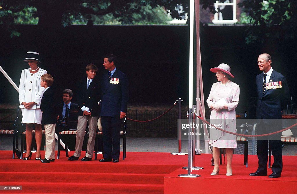 Queen, Philip And Wales Family : News Photo