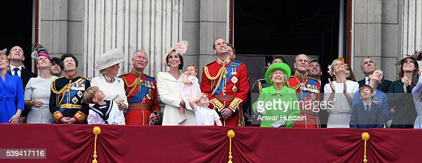 Members of the Royal Family including Princess Anne The Princess Royal Camilla Duchess of Cornwall Prince Charles Prince of Wales Catherine Duchess...