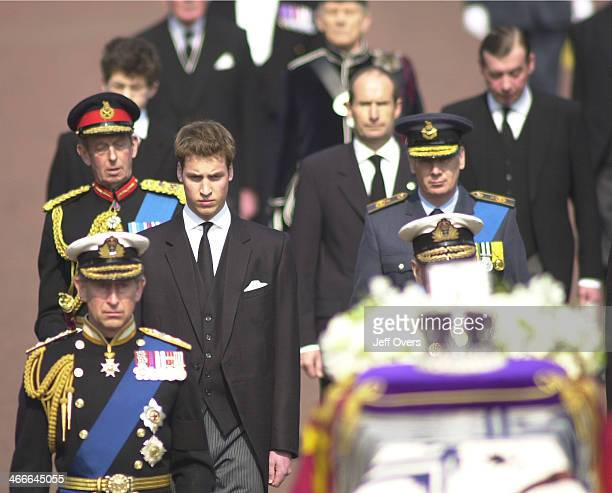 Members of the Royal Family including the Duke of York the Prince of Wales Prince Charles the Duke of Edinburgh Prince Philip the Princess Royal...