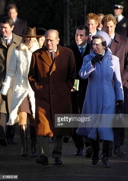 Members of the Royal Family leave St Mary Magdalene's church on the Sandringham estate after attending the Royal Family's traditional Christmas Day...
