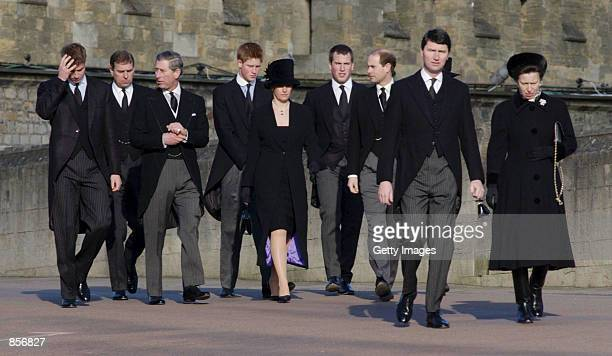 Members of the Royal family Prince Williiam the Duke of York Prince Charles Prince Harry Sophie Countess of Wessex Peter Phillips the Earl of Wessex...