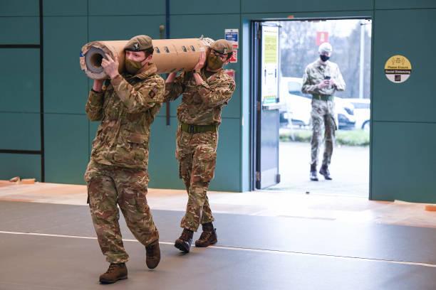 GBR: Soldiers Prepare Covid-19 Vaccine Centre In Glasgow