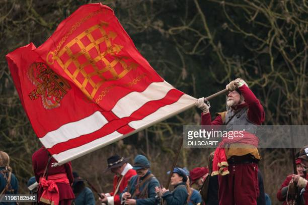 Members of the Sealed Knot, a society promoting interest in the English Civil War, stage a reenactment of the Battle of Nantwich, a battle which took...