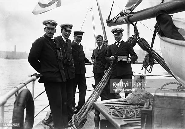 Members of the Shackleton-Rowett expedition : G.V. Douglas, Douglas George Jeffrey, Frank Wild, Leonard Hussey, and Hubert Wilkins.