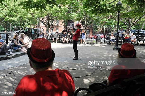 Members of the Show Stoppers perform at Father Demo Square during Make Music Day 2015 on June 21 2015 in New York City