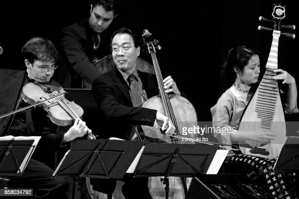 Members of the Silk Road Ensemble perform 'The Silk Road Suite' at Carnegie Hall New York New York April 10 2005 Pictured are from left Nicholas...