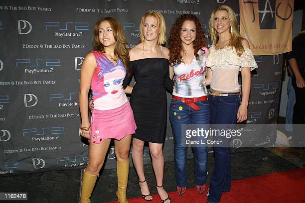 Members of the singing group Dream attend the Sean 'P Diddy' Combs record release party presented by Playstation September 5 2001 in New York City