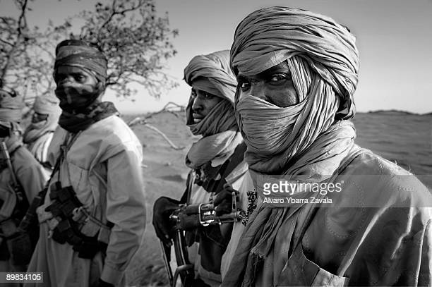 Members of the SLA guerrillas one of the rebel groups fighting against the Sudanese goverment in Khartoum