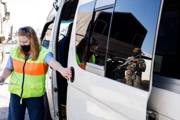 ZAF: SANDF and SAPS conduct patrols in Mbekweni in South Africa