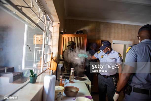 Members of the South African Police Service Metro and South African National Defence Force raided a house in Pretoria East as part of their...