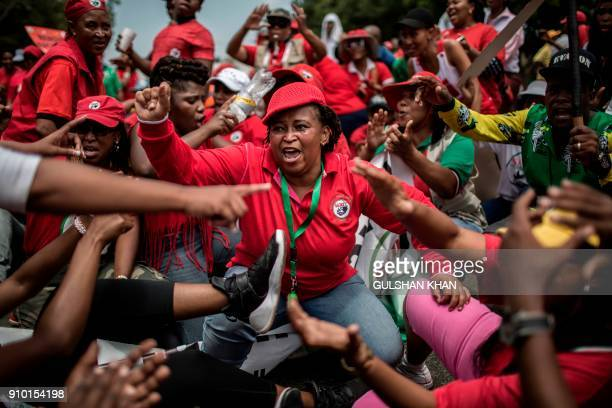 Members of the South African Teachers Union , African National Congress , Congress of South African Students , students from surrounding schools and...