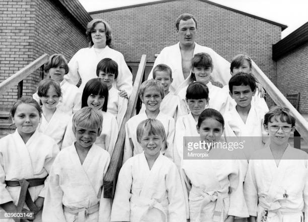 Members of the South Benwell Judo Club held at the local primary school Back row from left to right Hayley Finn Markl Pattinson Mark Crawford Jean...