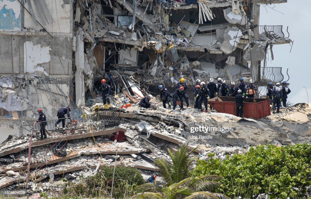 Dozens Presumed Missing After Residential Building In Miami Area Partially Collapses : News Photo