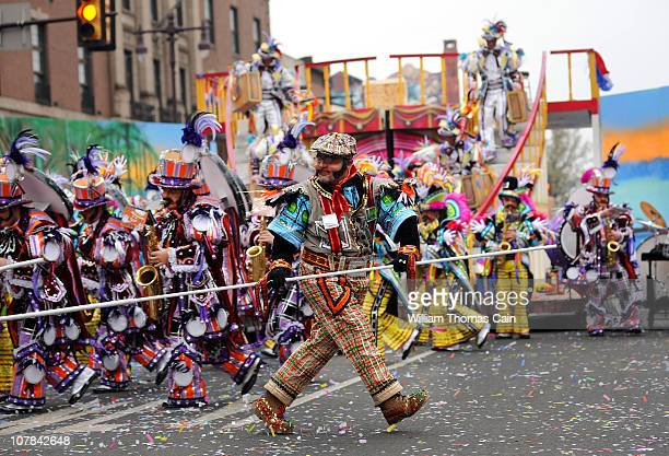 Members of the South Philadelphia String Band perform during the 2011 Mummers Parade January 1 2011 in Philadelphia Pennsylvania Thousands of people...