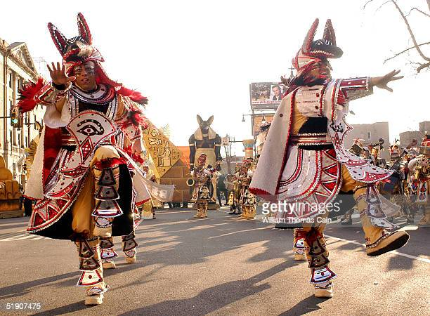 Members of the South Philadelphia String Band perform during the Philadelphia Mummers Parade January 1 2005 in Philadelphia Pennsylvania The parade...