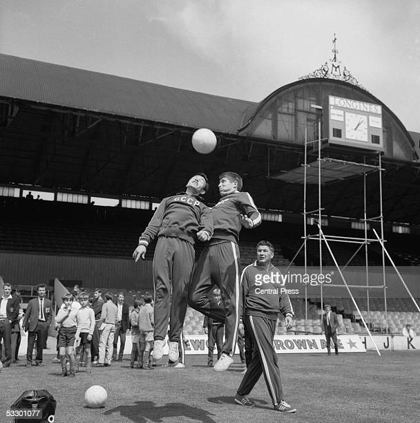 Members of the Soviet squad in training at Ayresome Park Middlesbrough during the 1966 World Cup football tournament in England July 1966