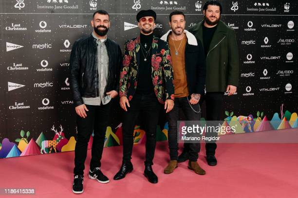 Members of the Spanish band Efecto Pasillo attend 'Los40 music awards 2019' photocall at Wizink Center on November 08 2019 in Madrid Spain