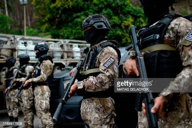 Members of the Special Tactical Operations Unit of the Special Action Forces take part in military exercises to activate the integral defense...