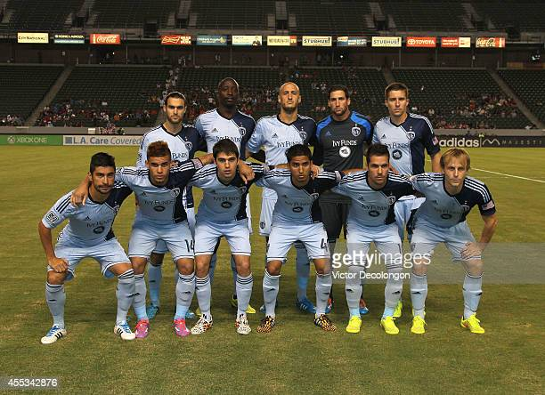 7eff34b64 Members of the Starting XI of Sporting Kansas City pose for a group photo  prior to