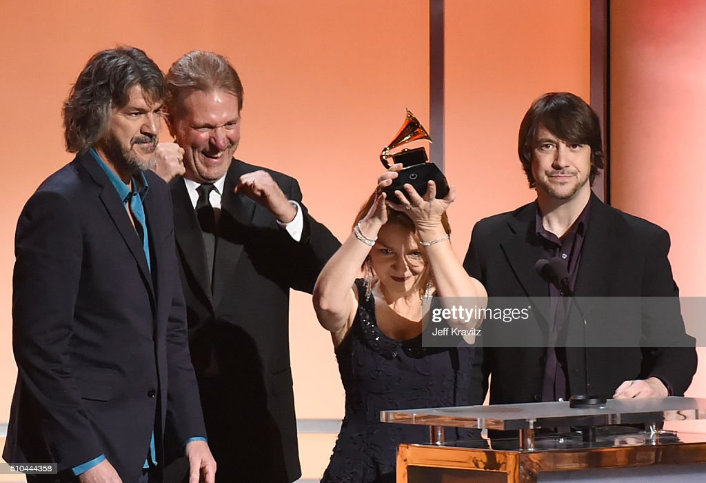 Members of The Steeldrivers accept the award for Best Bluegrass Album for 'The Muscle Shoals Recordings' onstage during The 58th GRAMMY Premiere Ceremony at Los Angeles Convention Center on February 15, 2016 in Los Angeles, California.