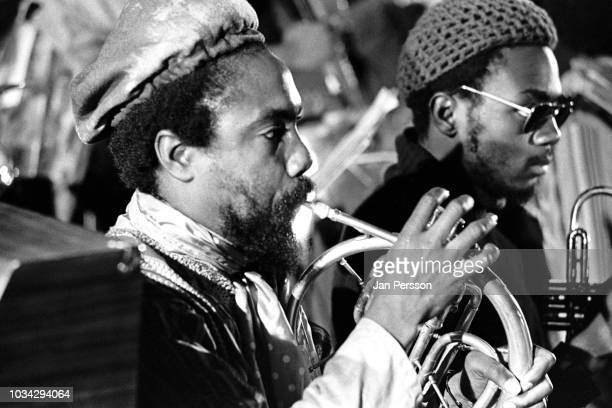 Members of The Sun Ra Arkestra Akh Tal Ebah and Kwame Hadi Berliner Jazz Tage Germany November 1970