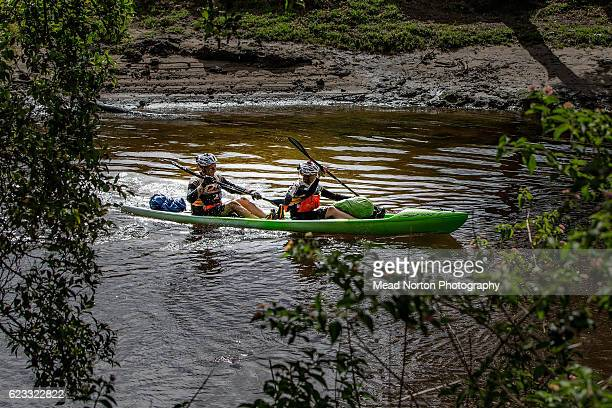 Members of the Sweco Adventure Team paddling down the Shoalhaven River during the Adventure Race World Championship on November 14 2016 in Ulladulla...