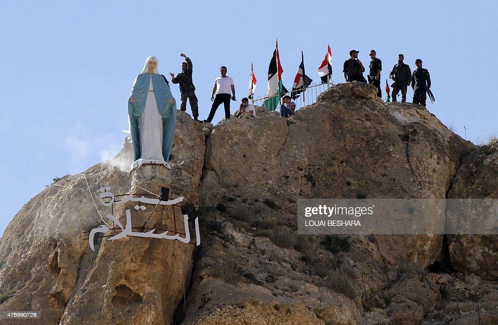SYRIA-CONFLICT-RELIGION-CHRISTIANS-MAALULA : News Photo