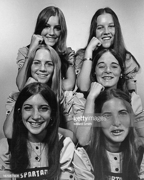 JUL 27 1973 JUL 28 1973 AUG 1 1973 Members of the team which won several ribbons in recent national competition are front row Julie Hayek left and...